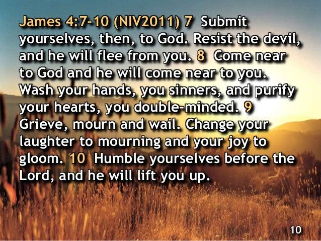 James 4:7-10