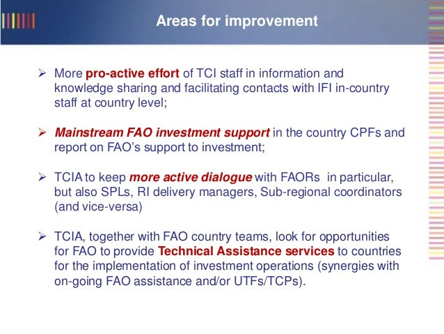 fao investment centre africa service tcia