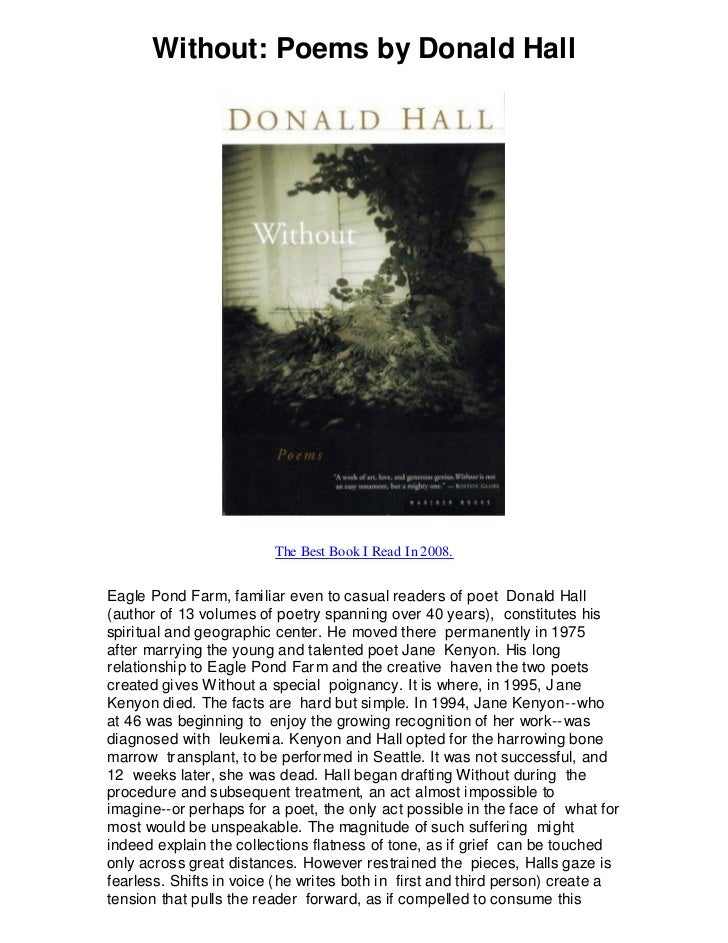Donald Hall Poems 6