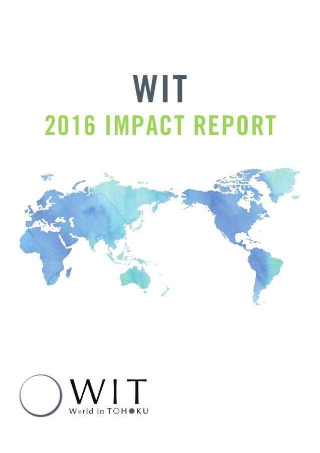 WIT 2016 IMPACT REPORT