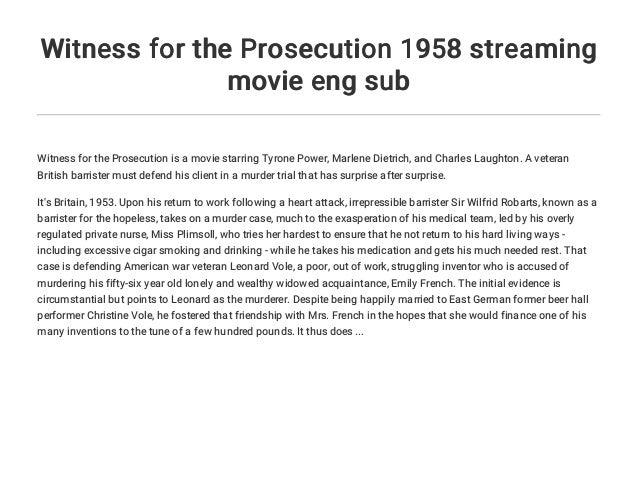 the witness movie english sub