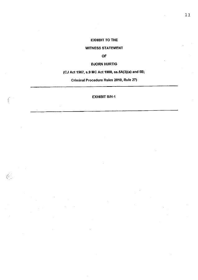 Assange case: Witness statement Bjorn Hurtig Exhibit Nr1