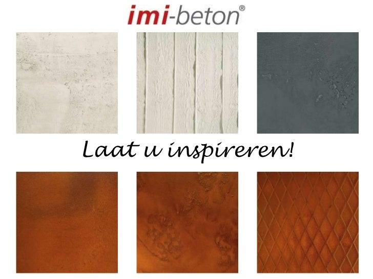laat u inspireren - Beton Color