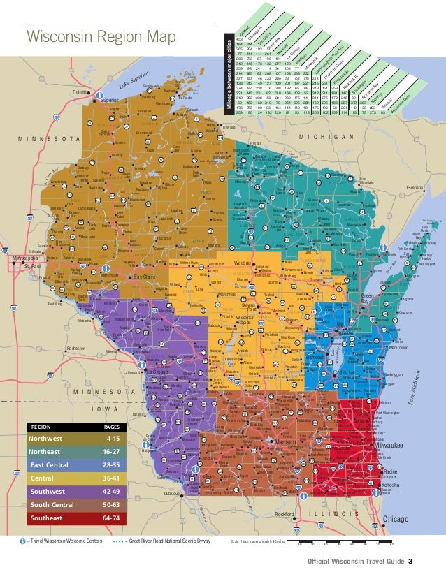 Wi travel guide 2014 – Wisconsin Travel Map