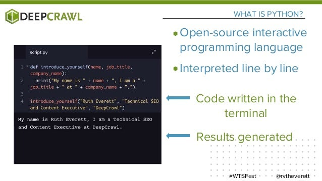 USING PYTHON Mac - Terminal Windows - Command Line @rvtheverett#WTSFest
