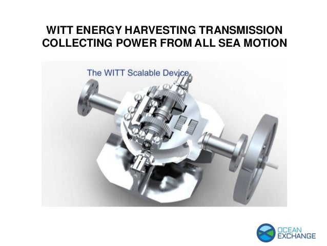 WITT ENERGY HARVESTING TRANSMISSION COLLECTING POWER FROM ALL SEA MOTION