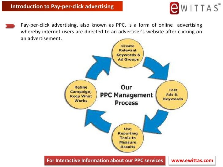 Introduction to Pay-per-click advertising<br />Pay-per-click advertising, also known as PPC, is a form of online advertisi...