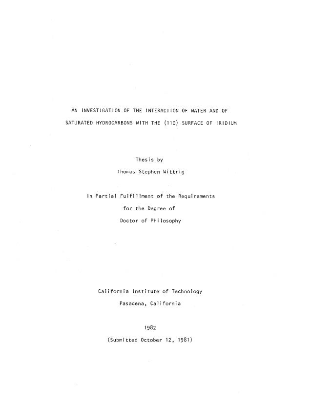 caltech thesis requirements Appendix b from silicon microwire photovoltaics thesis by michael david kelzenberg in partial fulfillment of the requirements for the degree of doctor of philosophy.