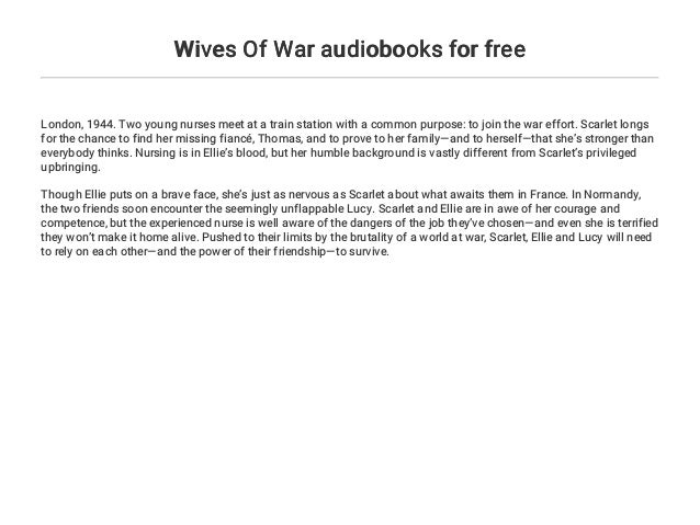 Wives Of War Audiobooks For Free