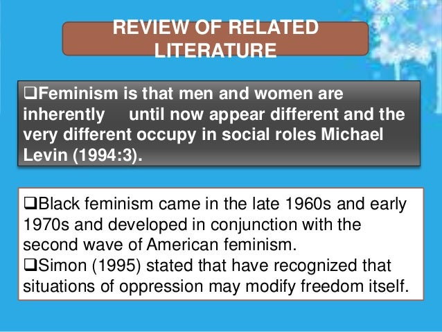 An analysis of feminism in the united states