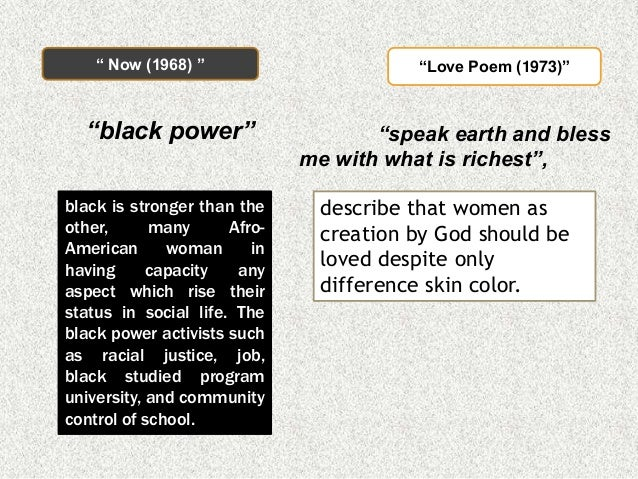 the theme of racism in the poem coal by audre lorde Marilyn hacker captures the essence of lorde and her poetry: black, lesbian,  by audre lorde  my favorite was the title poem coal the line that really.