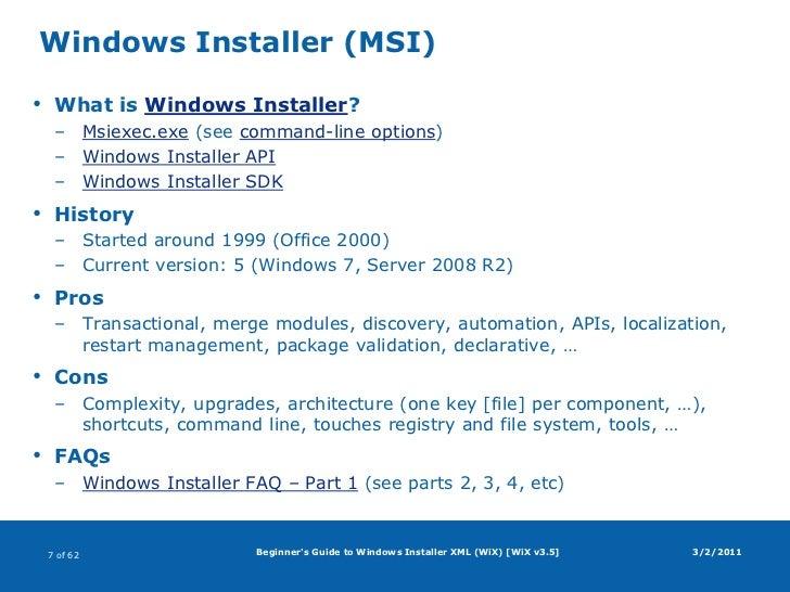 what is windows installer