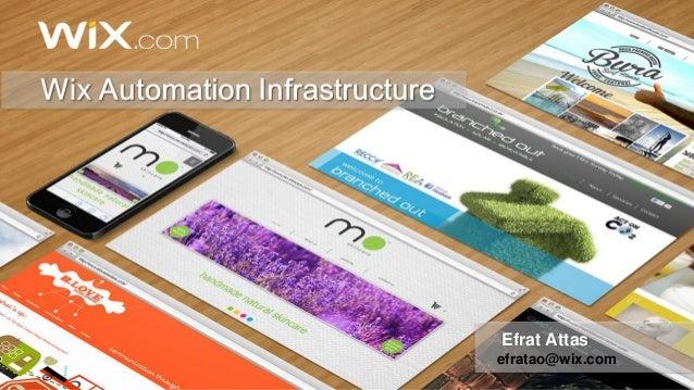 Wix Automation Infrastructure  Efrat Attas  efratao@wix.com