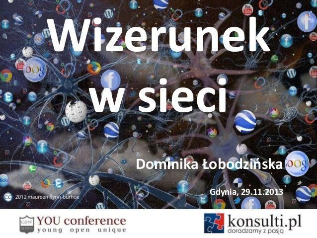 Wizerunek w sieci Dominika Łobodzioska Gdynia, 29.11.2013