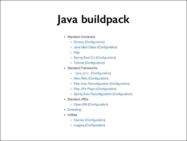 Java buildpack