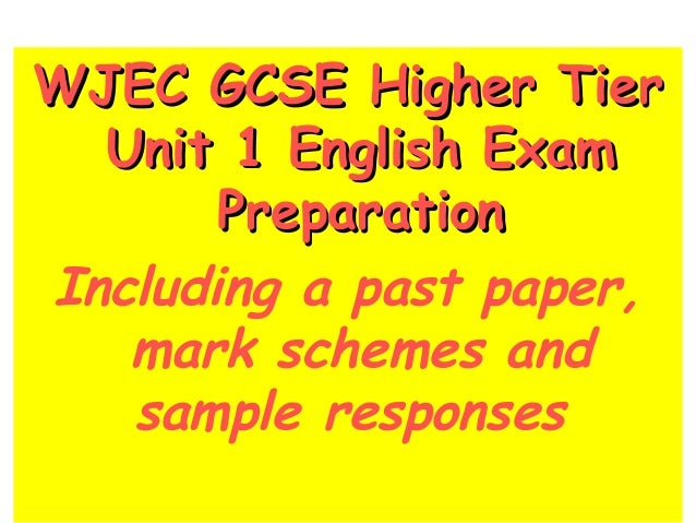 wjec english literature a level coursework mark scheme