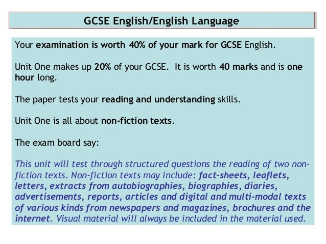 gcse english coursework marking The edexcel international gcse in english literature specification gives the option of assessment by coursework or 100% examination offering teachers a broad choice.