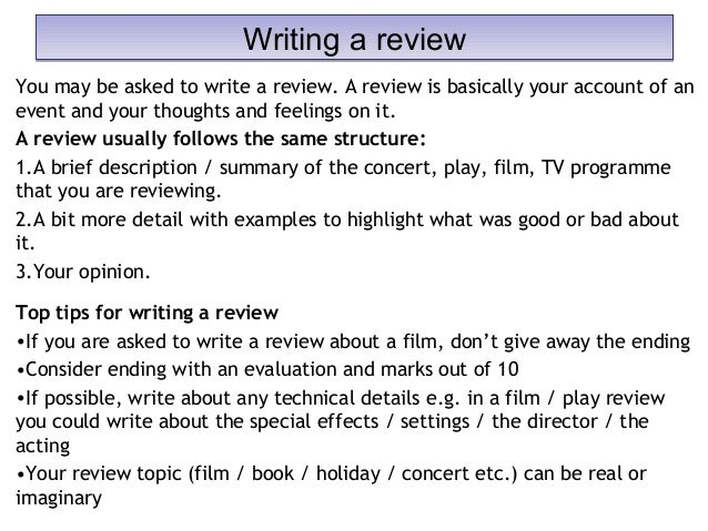 writing of a concert review One device you might want to use in writing your evaluative essay is the device  you can't be expected to review a rock concert with the same language that you'd.