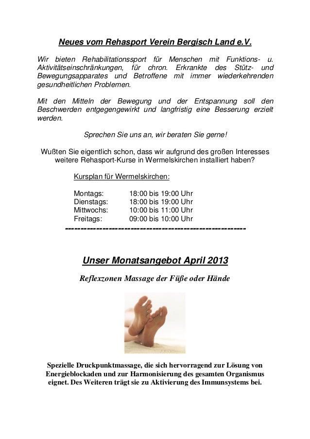 Neues vom Rehasport Verein Bergisch Land e.V.Wir bieten Rehabilitationssport für Menschen mit Funktions- u.Aktivitätseinsc...