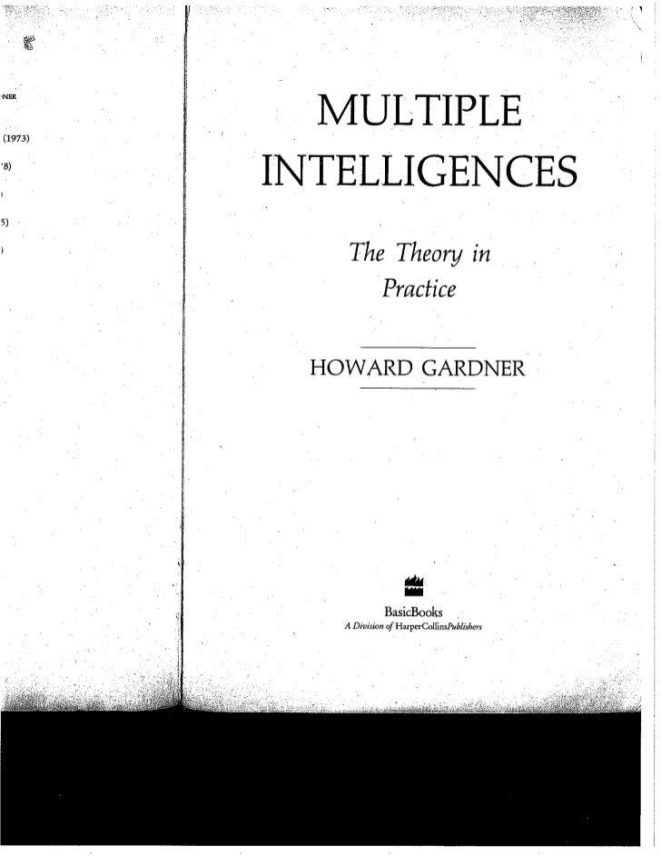 Wk 11 gardner   multiple intelligences
