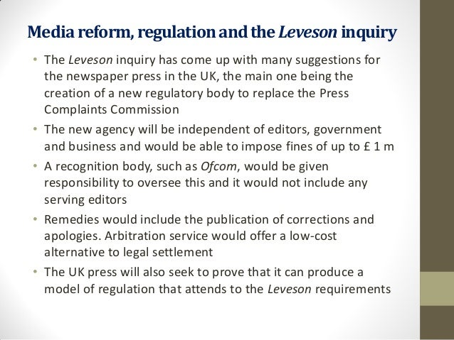 The regulation and reform of the