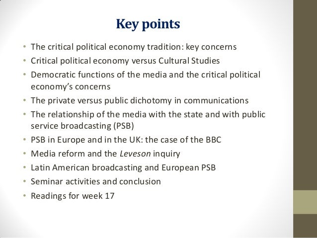Political economy of the media and regulation