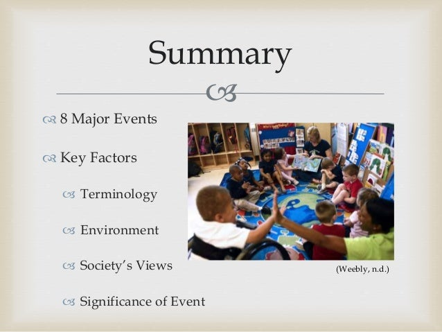 summary of special education laws and The words special education can be confusing, frightening and overwhelming to any parent the goal of this site is to educate you so that you can be the best, possible advocate for your child i promise to provide you with the most accurate, parent friendly information on the following:.