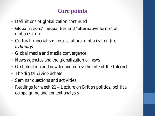 globalisation and the media essay
