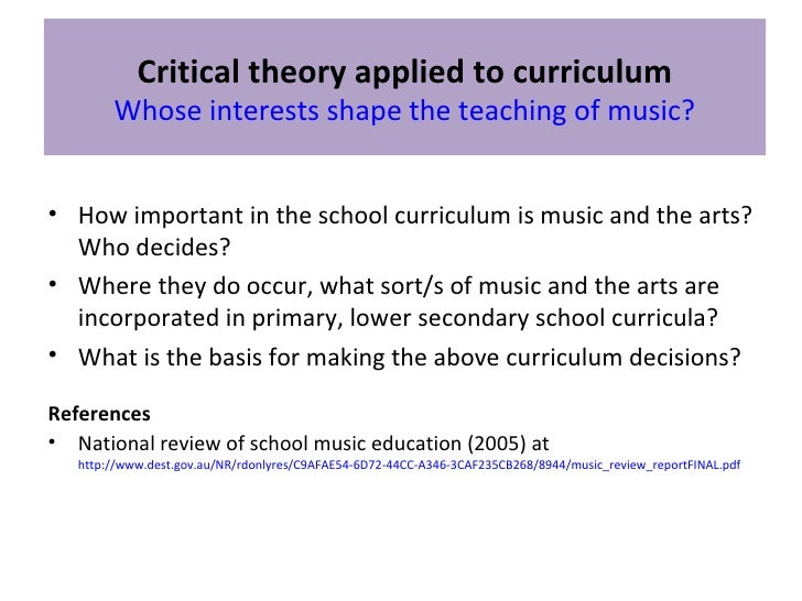 critical curriculum theory
