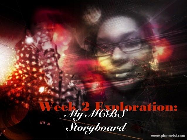 Week 2 Exploration:Week 2 Exploration: My MCBSMy MCBS StoryboardStoryboard