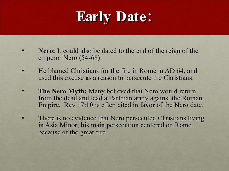 Early dating of revelation