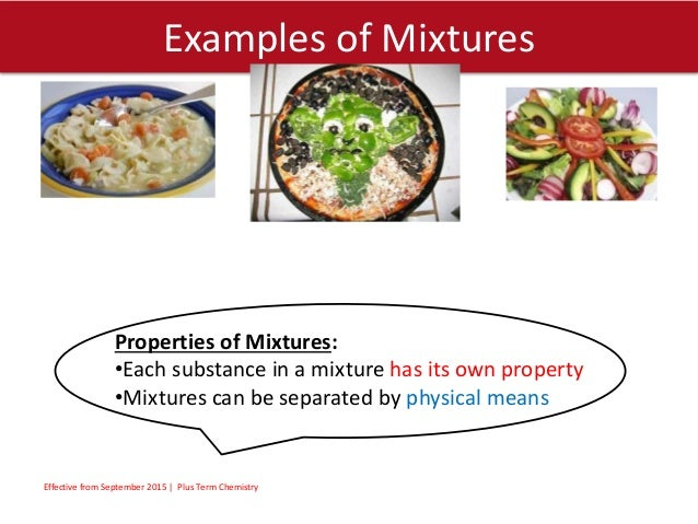 Elements compounds mixtures.