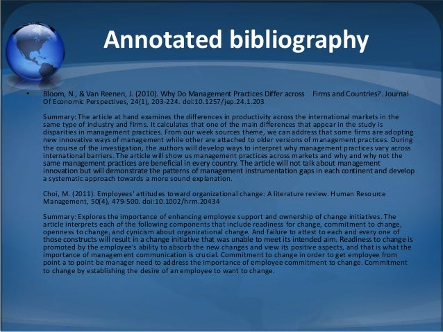 an annotated bibliography on information management in companies An annotated bibliography on information management in companies pages 4 words 808 view full essay more essays like this: not sure what i'd do without @kibin - alfredo alvarez, student @ miami university exactly what i needed - jenna kraig, student @ ucla wow most helpful essay resource ever.