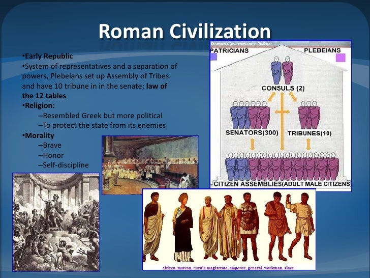 greek and roman civilization Greek culture influenced the development of roman civilization because at first rome absorbed ideas from greek colonists in southern italy, and they continued to borrow from greek culture after they conquered greece.