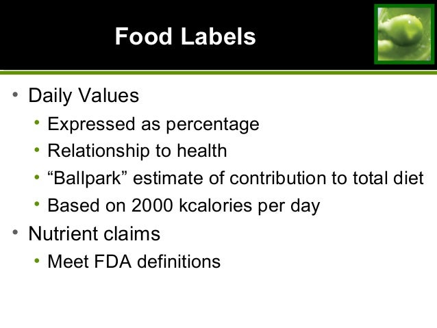total daily recommended amount in the usda dietary guidelines