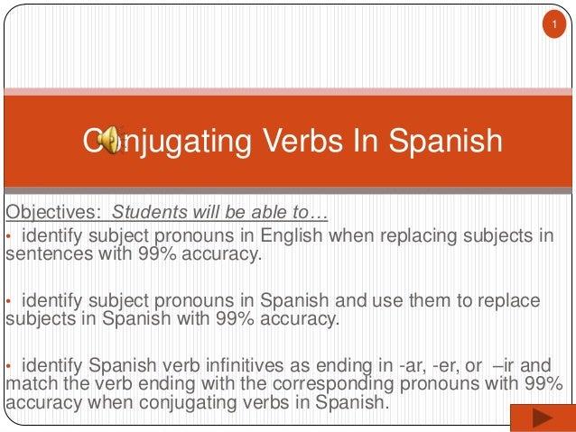 7dc3b20b9105 Wk 6 Spanish I - Regular Present Tense Verb Conjugation