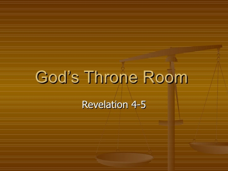God's Throne Room  Revelation 4-5