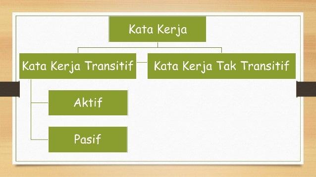 kata kerja - kata kerja transitif aktif pasif Slide 3