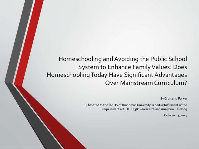 an analysis of home schooling and public school system - home schooling: not for everyone home schooling is when a child is instructed outside of the public school system in a place such as the home in the year 2002, 850,000 students were home schooled in the united states out of about 50,200,000 that were attending school at that time (home schooling statistics, 1).