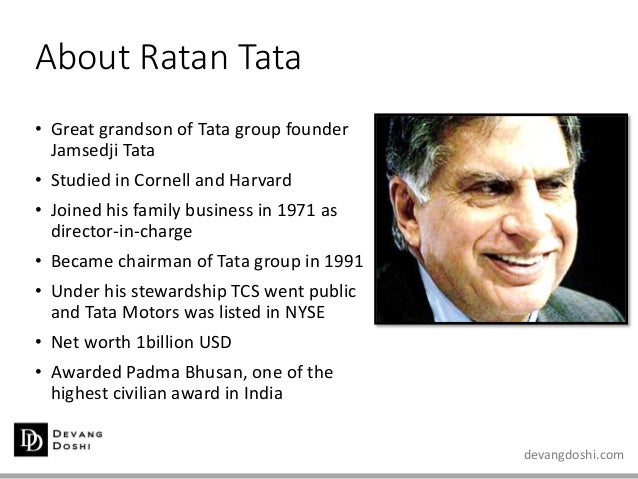 ratan tata and his leadership qualities Chandra will need those qualities in his latest corporate assignment  the  company gained global cachet under the leadership of ratan tata,.