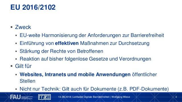 WKE2018: Leitfaden Digitale Barrierefreiheit Slide 3