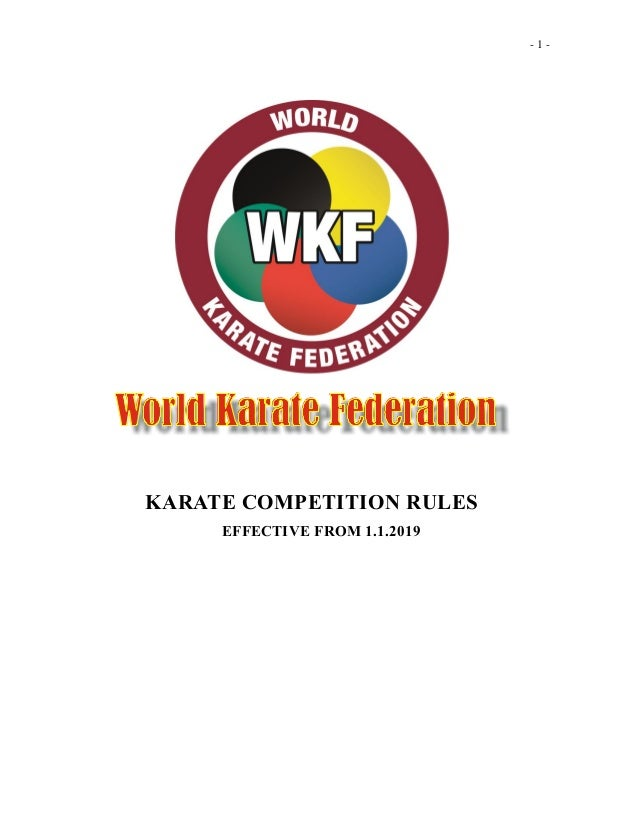 Kata and Kumite Competition Rules for 2019