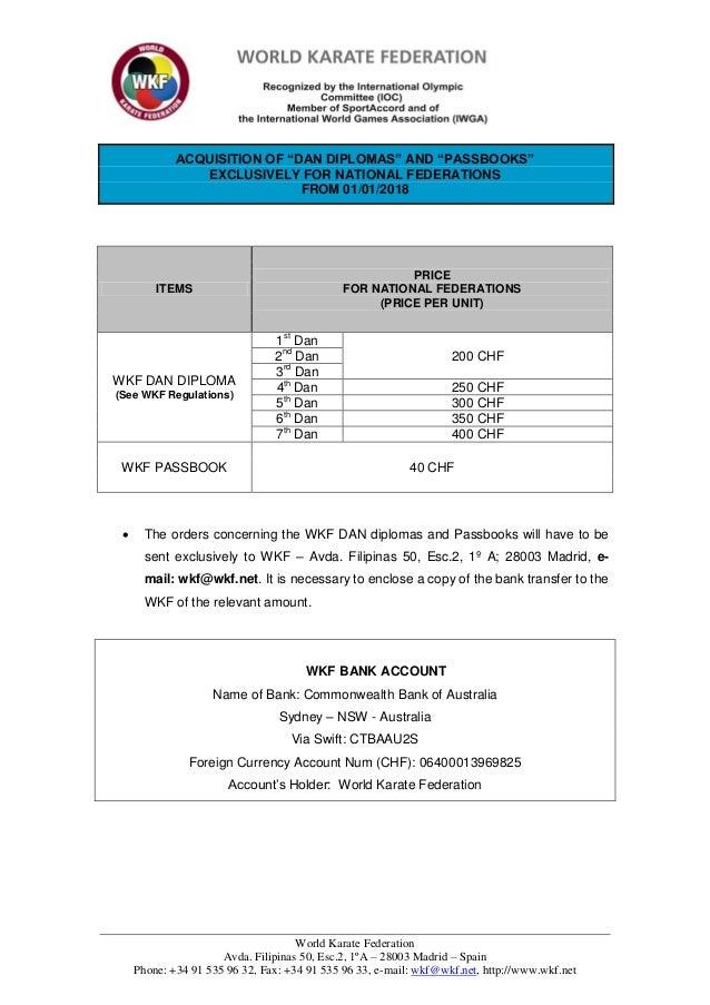 World Karate Federation Avda. Filipinas 50, Esc.2, 1ºA – 28003 Madrid – Spain Phone: +34 91 535 96 32, Fax: +34 91 535 96 ...