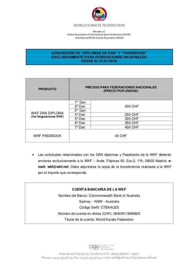 Wkf fees dan diplomas and passbooks  2018_eng fr sp Slide 3