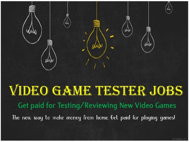 Video Game Tester Jobs At Home Get Paid For Playing NEW Games