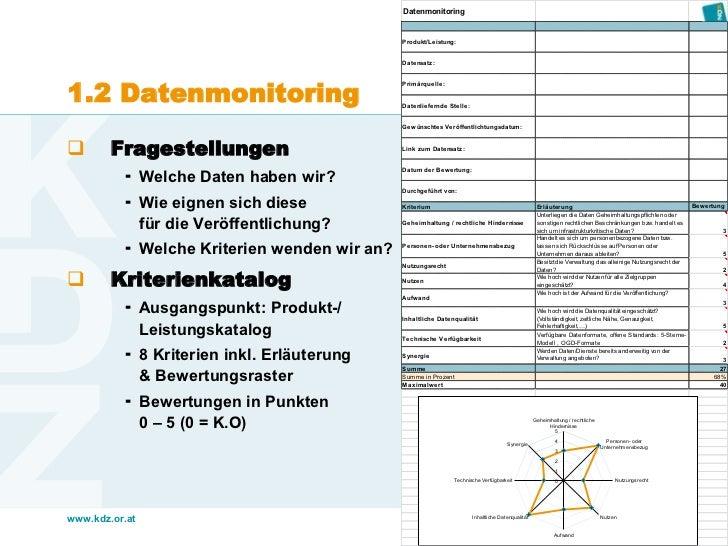 Datenmonitoring                                              Produkt/Leistung:                                            ...