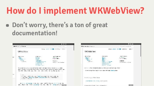 WKWebView in Production
