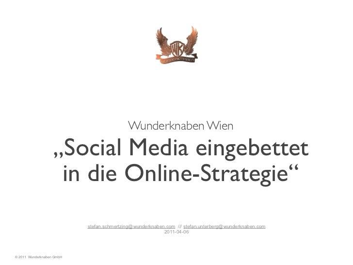 "!                                                      Wunderknaben Wien                    ""Social Media eingebettet     ..."
