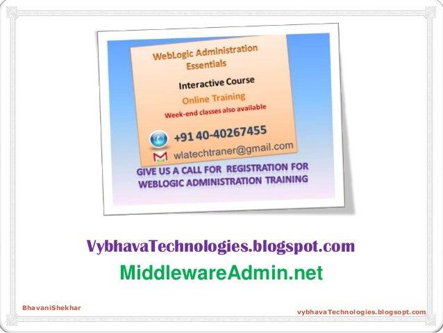 VybhavaTechnologies.blogspot.com MiddlewareAdmin.net BhavaniShekhar vybhavaTechnologies.blogsopt.com