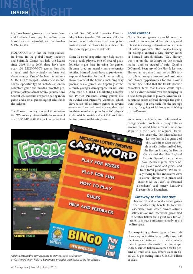 World Lotteries Association - Magazine - Spring 2014